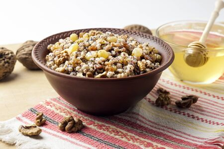 Kutia or kutya is a ceremonial grain dish with sweet gravy traditionally served by Eastern Orthodox Christians in Ukraine, Belarus and Russia during the Christmas - Feast of Jordan holiday season and as part of a funeral feast