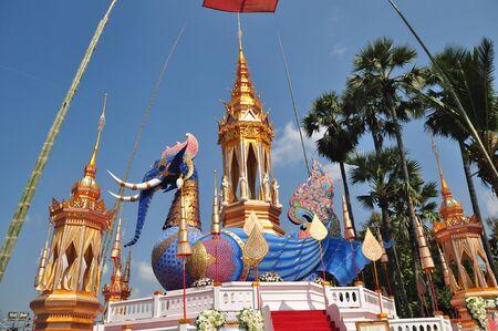 thai monk: Thai Monk Crematory elephant Stock Photo