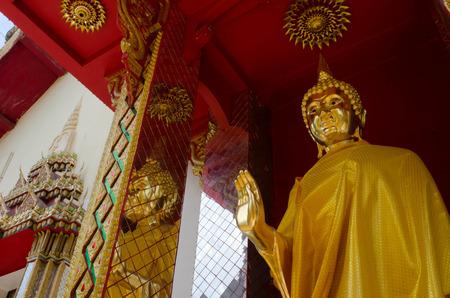 idolatry: Buddha statue in the temple Lamphun Thailand Stock Photo