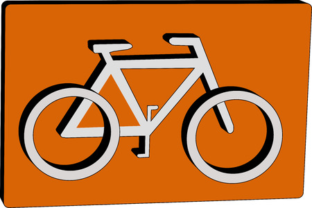 parking is prohibited: Bicycle label Illustration