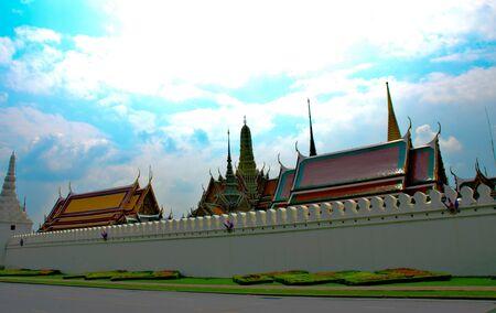 Wat Phra Kaew: Wat Phra Kaew Bangkok Thailand Stock Photo