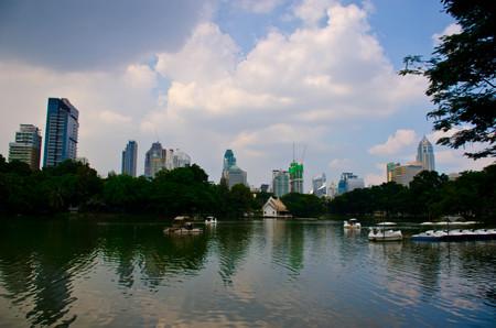 lumpini: Lumpini park and Duck shaped boat Bangkok Thailand Editorial