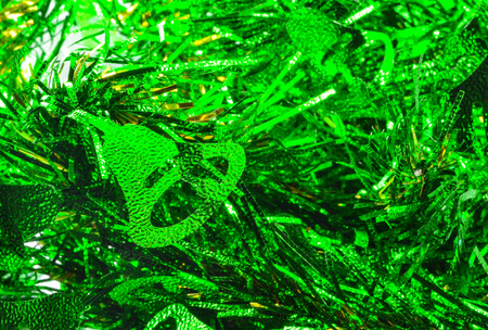 envelope decoration: green ribbon bell christmas
