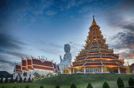 Huai Pla Kung temple in Chinese style Chiangrai Thailand Stock Photo