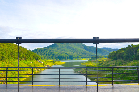 Twin Bridge at Mae Kuang Dam Chiangmai Thailand