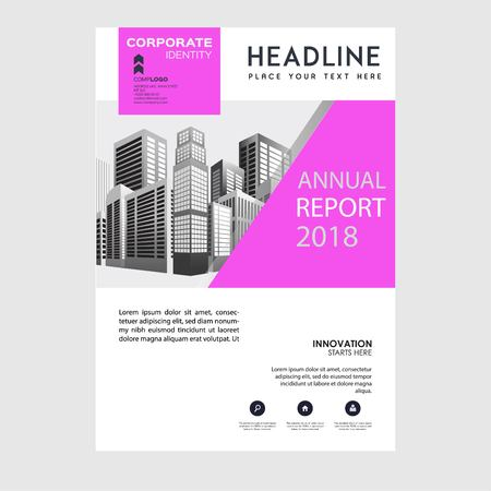 Annual Report illustration, Business Brochure, Flayer Design, Cover Book and Magazine. Illustration