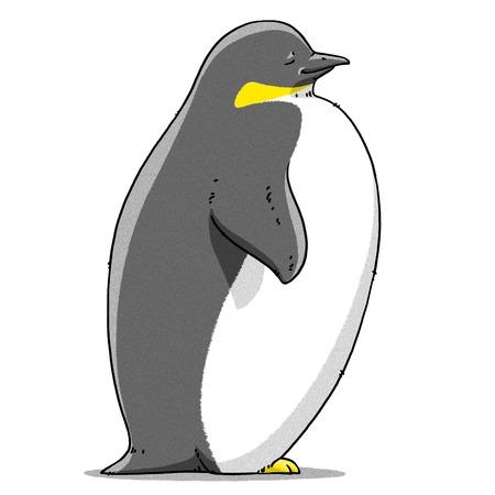 tundra: funny cartoon cute cool Imperial penguin illustration