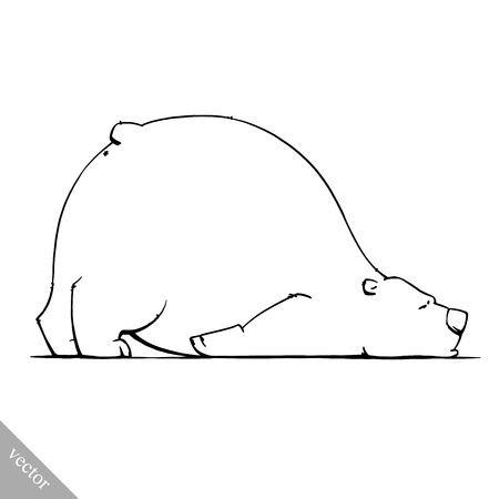 tundra: funny cartoon cute white polar vector bear illustration Illustration