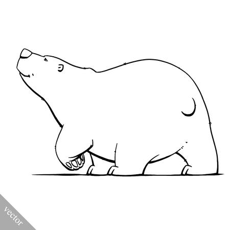 grappige cartoon schattige witte polar bear vector illustratie Vector Illustratie