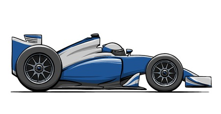 child's funny cartoon formula race car illustration Reklamní fotografie