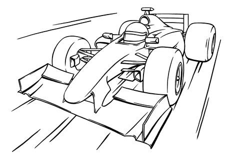Race Car Diagram