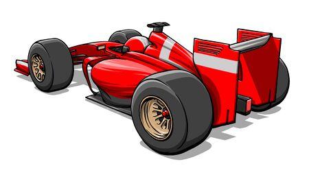 retour voir drle rapide formule dessin anim voiture de course illustration photo - Voiture De Course Dessin Anim