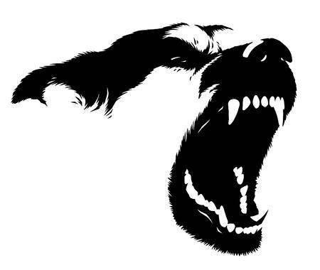 Illustrazione di cane lineare in bianco e nero illustrazione Archivio Fotografico - 89179889