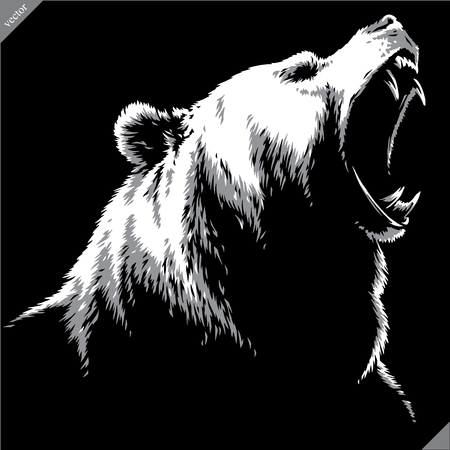 engrave isolated bear illustration vector sketch linear art Imagens - 122310587