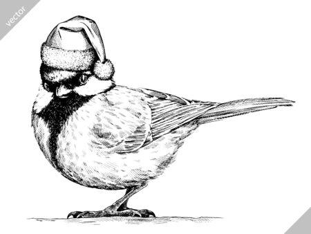 black and white engrave isolated tit art illustration