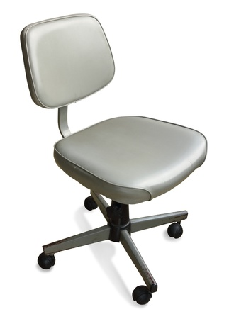 casters: Office chair isolated on a white background