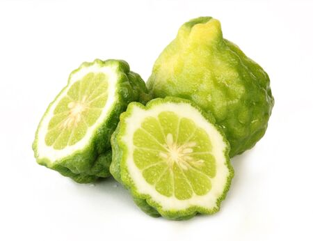 Kaffir lime isolate on white background