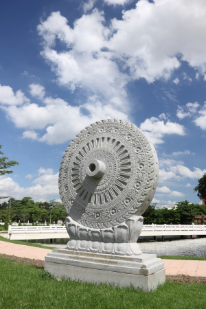 Buddhism Symbol Wheel of Life temple in thailand.