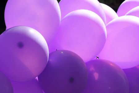 Purple balloons. photo