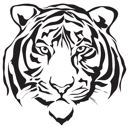 Tiger hoofd silhouet ontwerp