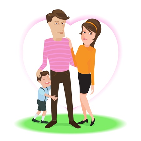 Happy family, illustration by vector design. Stock Vector - 17883448