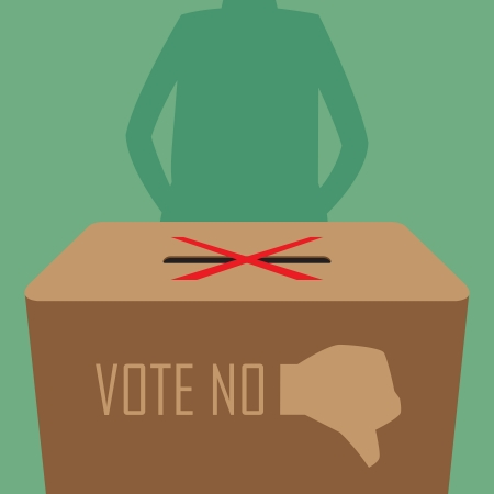 abstain: Abstain vote, Illustration by vector design EPS10