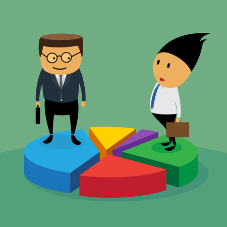 Market share with business concept, illustration by vector design EPS10  Vector