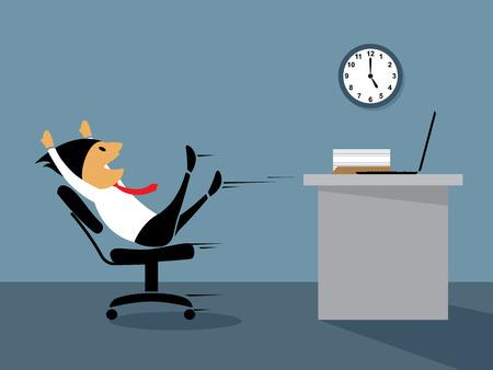 Funcionario feliz en la ilustración de fin de semana Foto de archivo - 26376063