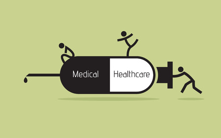Syringe icon, medical and healthcare concept Vector