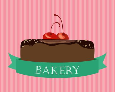 Chocolate Cake illustration Vector