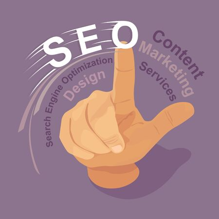 finger touch: Finger touch screen with the word SEO conceptual