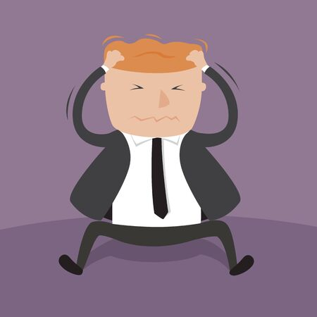 A Businessman scratching his head illustration Vector