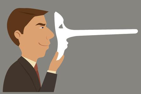 desconfianza: El hombre de negocios poco fiables, dise�o ilustraci�n.