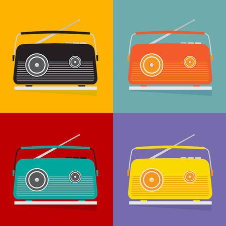 transitor: El transistor de radio vintage, dise�o vectorial.