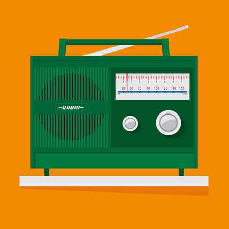 transistor: El transistor de radio vintage, dise�o vectorial.