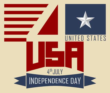 4. Juli, Happy Independence Day USA, Abbildung Vektor-Design.