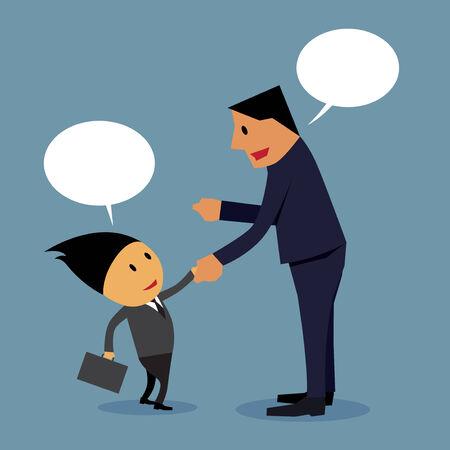 negotiations: El hombre de negocios, negociaciones comerciales. Vectores