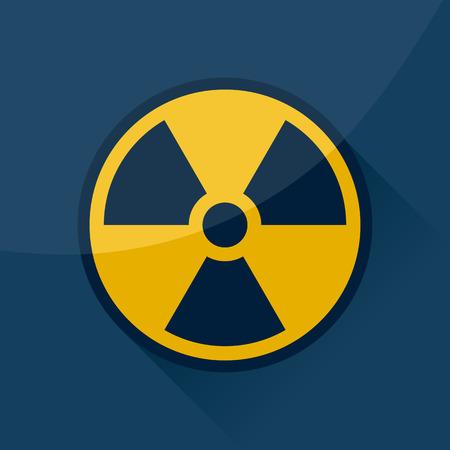 radioactive sign: Signo y s�mbolo radiactivo, dise�o del vector.