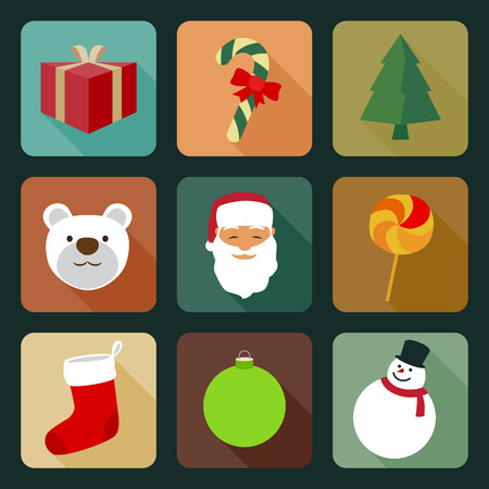 25 december: Element and Icons set for Christmas day.