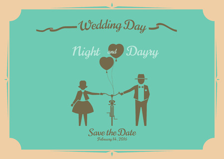 Hochzeitseinladungskarte, Vektor-Design.