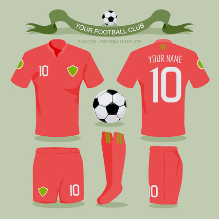 soccer uniform: Soccer uniform template for your football club illustration design.