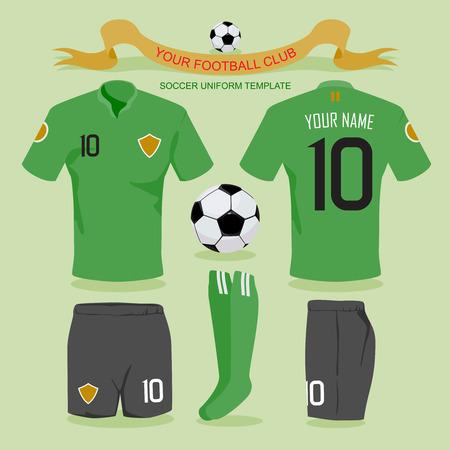 soccer uniform: Soccer uniform template for your football club, illustration by design. Illustration