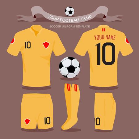 soccer uniform: Soccer uniform template for your football club, illustration by vector design.