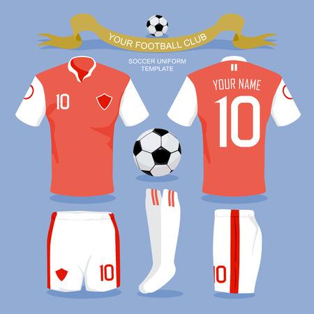 uniform: Plantilla uniforme del fútbol por su club de fútbol, ??diseño ilustración.