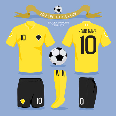 shirt: Soccer uniform template for your football club, illustration design. Illustration