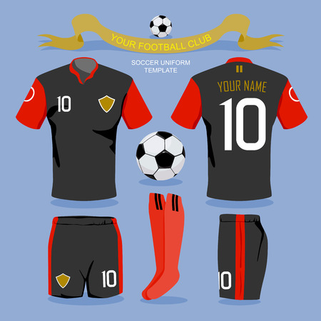 futbol soccer: Plantilla uniforme del fútbol por su club de fútbol, ??diseño ilustración.