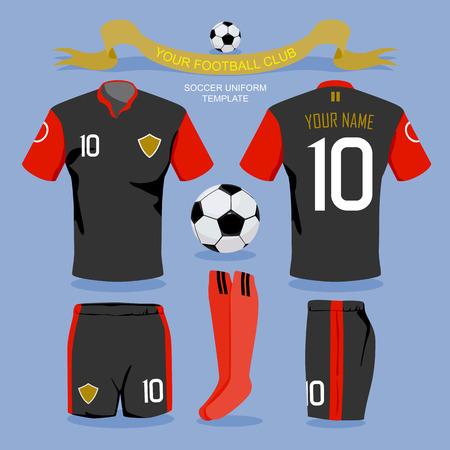 soccer jersey: Soccer uniform template for your football club, illustration design. Illustration