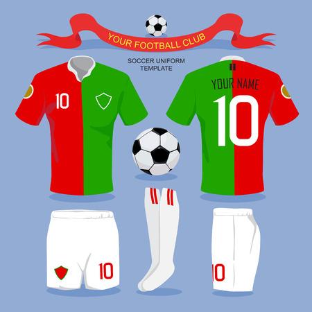 Fu�balluniform-Vorlage f�r Ihr Fu�ball-Club, Illustration, Design.