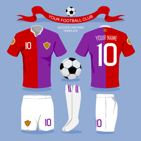 uniforme de futbol: Plantilla uniforme del fútbol por su club de fútbol, ??diseño ilustración.