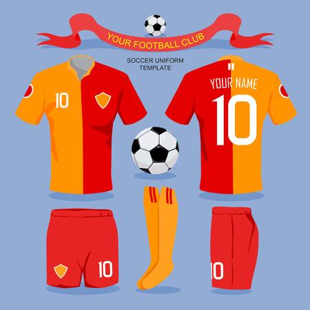 soccer uniform: Soccer uniform template for your football club, illustration design. Illustration